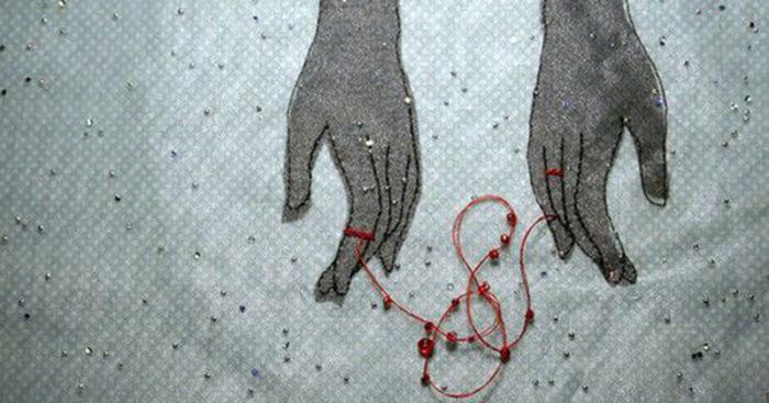 Energy cords between lovers
